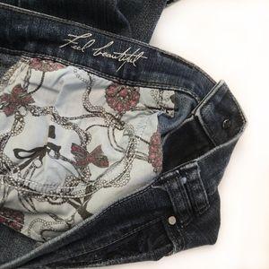 WHITE HOUSE BLACK MARKET Noir 8S Dark Blue Jeans